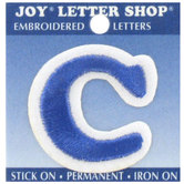 Blue Letter Iron-On Applique C - 1 1/2""